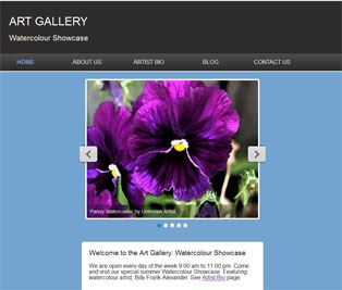 Click to view Art Gallery theme with Responsive Slider