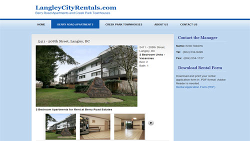 LangleyCityRentals.com - Real Estate Listings Website