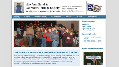 Non-profit Organization Website with Event Calendar