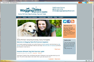 Business Brochure Website for Local Pet Food & Supplies