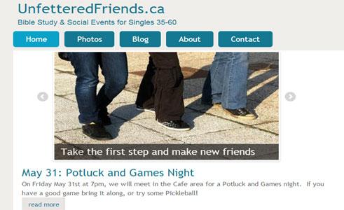 New Website for Community Social Group